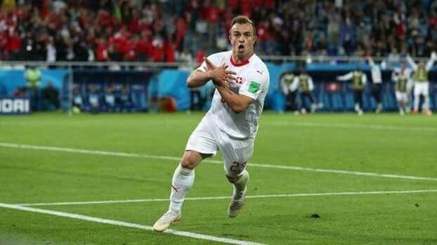 Sheridan Shaqiri Celebration When He Sccore Gol Vs Serbia This Is So Beautiful Granit Xhaka Only Play Fussball