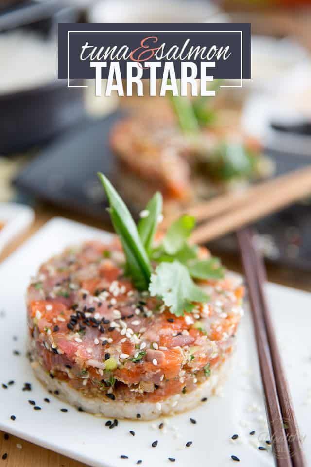 Asian Inspired Tuna Salmon Tartare  Recipe  Salmon -7746