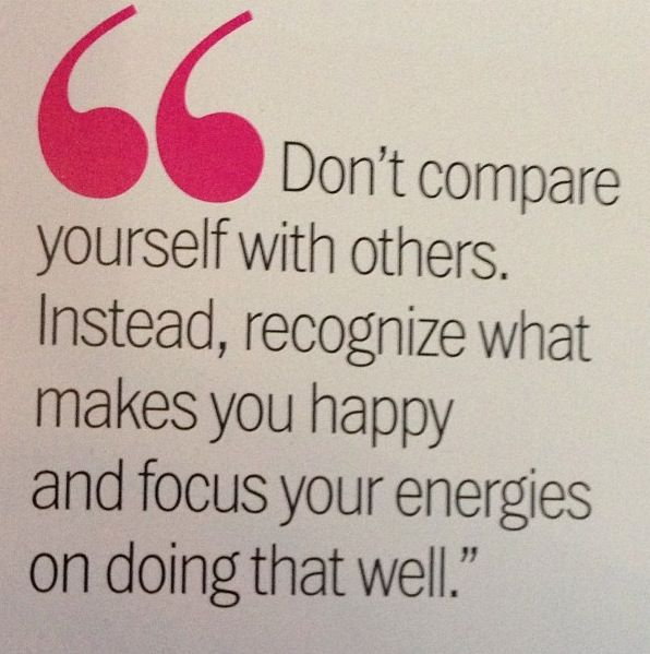 Comparing yourself to others makes you unhappy