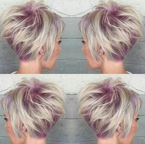 Textured Stacked Haircuts for Short Hair - Balayage Hairstyles for Women Fine Hair