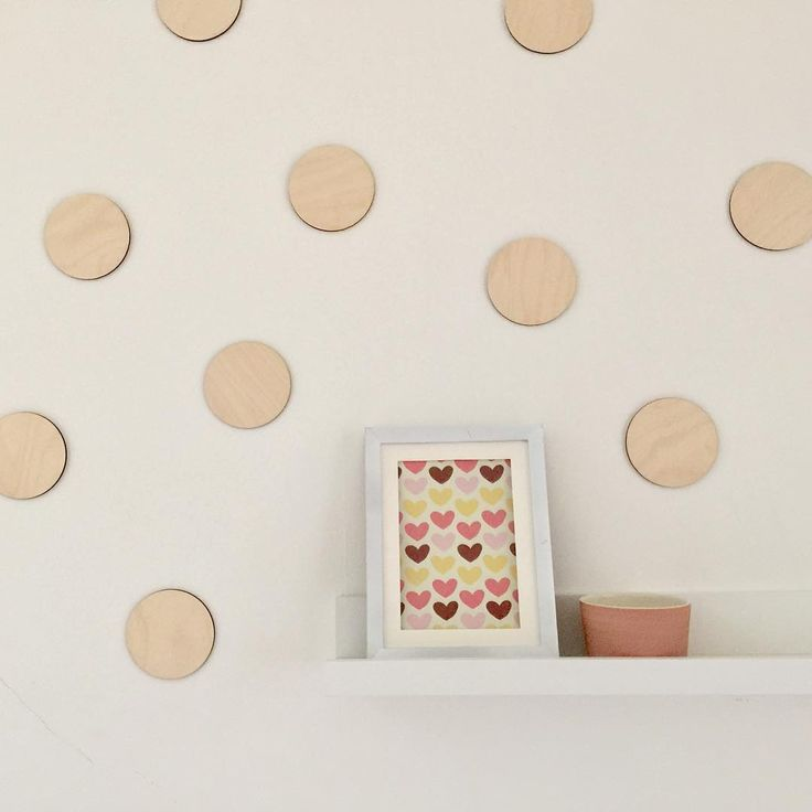 Cercles - Déco murale en bois - Accessoire décoration maison - Ensemble de 10 pièces - Style scandinave