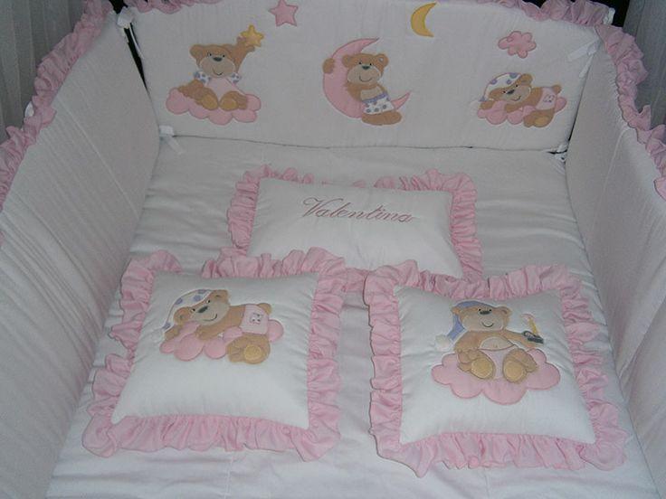 Osos noche rosado. Fabricamos a la medida de tus sueños. www.andrithbebes.com  Cali - Colombia