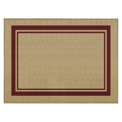Target Threshold 8 X 10 Rectangular Patio Rug Red
