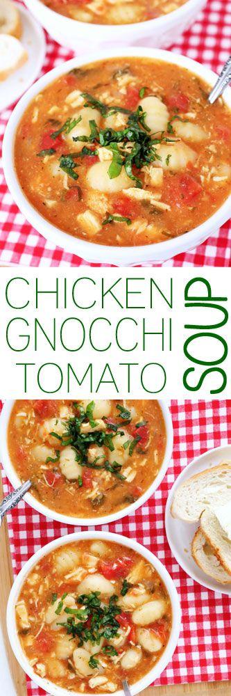 Chicken Gnocchi Tomato Soup #gnocchisoup #souprecipes #soup