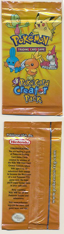 Pok mon Individual Cards 2611: Pokemon Kids Wb Pokecard Creator Booster Pack Factory Sealed!! See Scans!! -> BUY IT NOW ONLY: $299.99 on eBay!