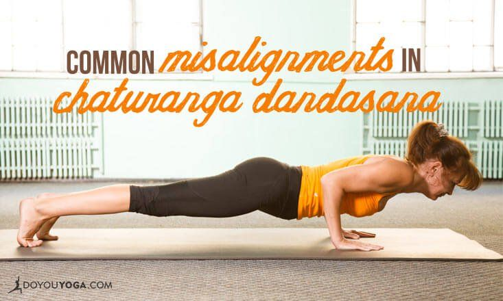 Does your Chaturanga feel wobbly or weak? Do your shoulders and wrists hurt? Then check out how to fix these common misalignments in Chaturanga Dandasana!