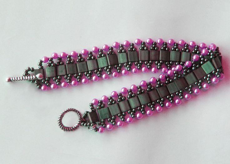 Free Pattern For Bracelet Viva With Tila Beads