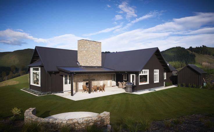 Black house love - the Poplars house in NZ