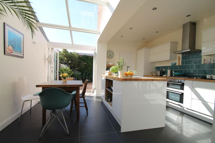Favourite #kitchen - love the glass roof and folding doors
