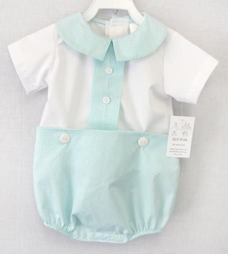 Santino's Easter outfit? Vintage inspired Baby Boy Bubble Baby Clothes by ZuliKids