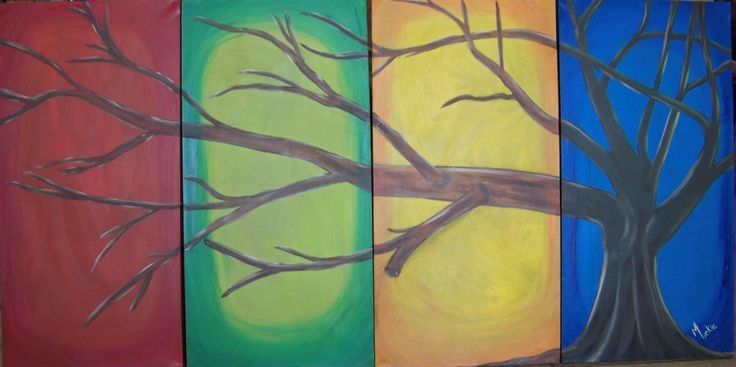 Oil on deep frame stretched canvas.  4 panels, each 80 x 40 cm.  Commissioned piece.  R2500.  Sold.