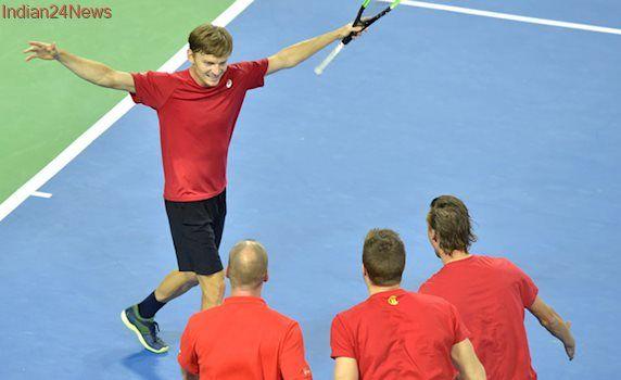 Davis Cup: David Goffin sends Belgium into semi-final against Australia
