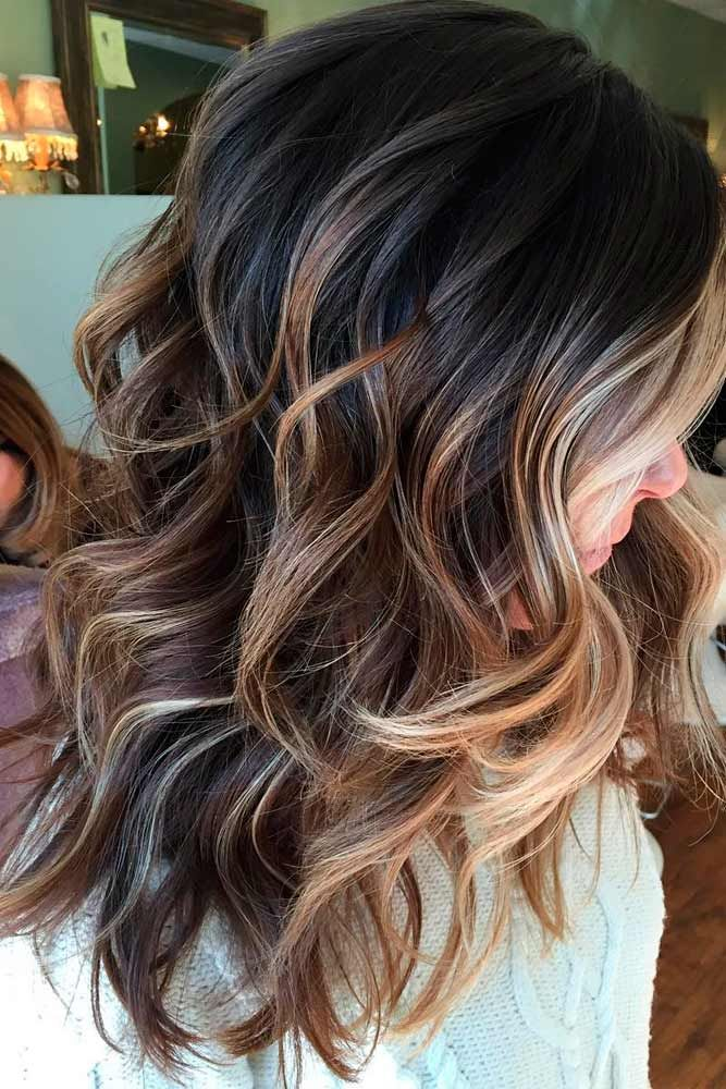 55 Highlighted Hair for Brunettes  Hair  Balayage hair, Brown blonde hair, Hair color caramel