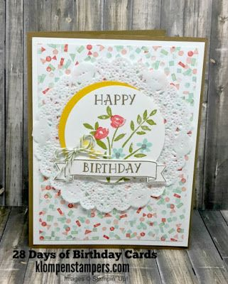 Klompen Stampers (Stampin' Up! Demonstrator Jackie Bolhuis): 28 Days of Birthday Cards -- Day #21