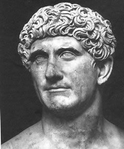 married 4 times and lover to cleopatra.  can't no woman hold him down.