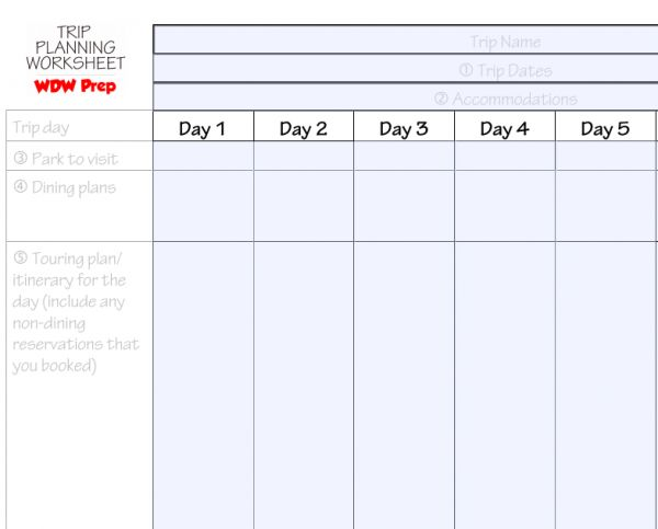 Disney World binder builder 100+ free downloads from WDWPrepSchool.com