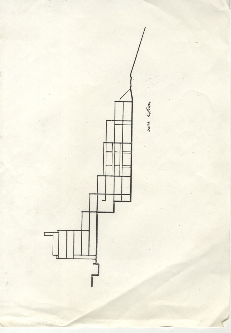 Architectural plan: cross-section of Medway College of Art