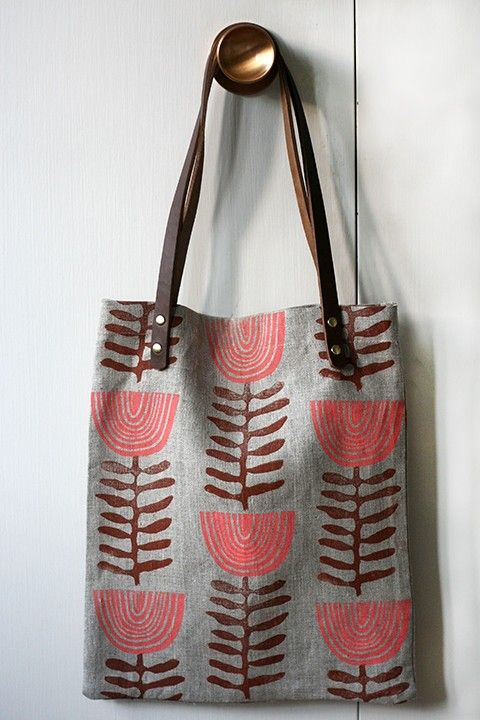 Inspiration for Tote Bag printing - could use stencil, lino or block printing techniques.