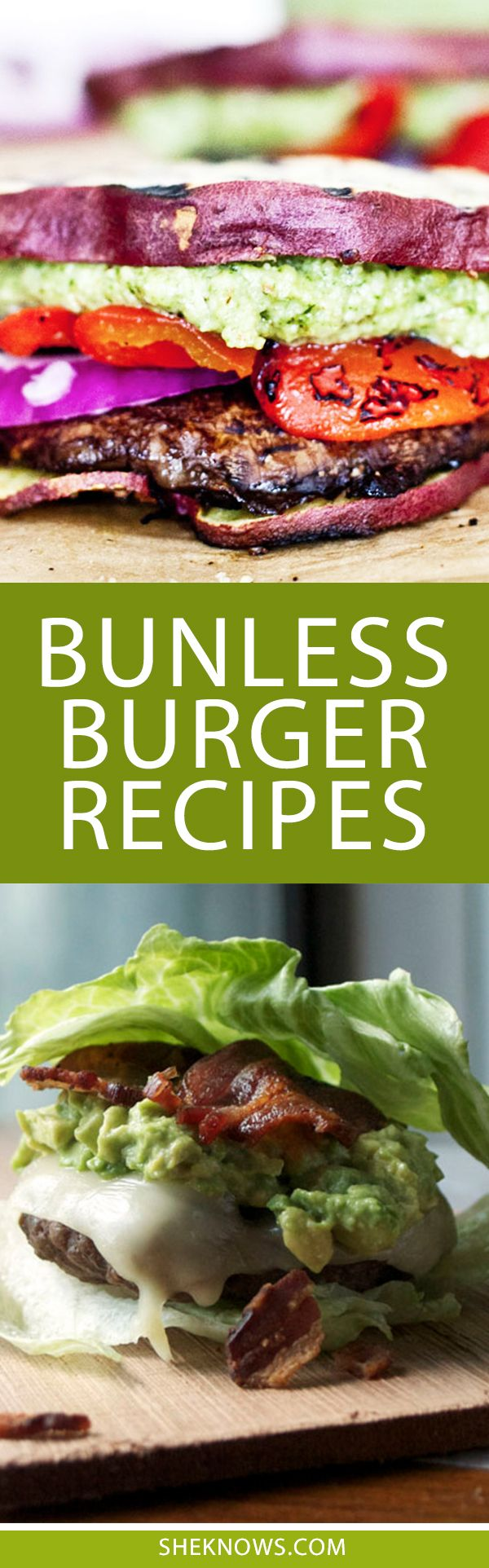 Bun-free is the way to be! Spice up burger night with these quick and easy bunless burger recipes.