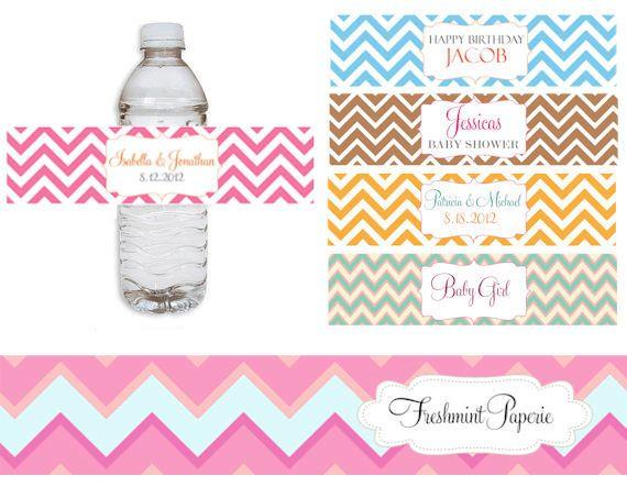 Etiquetas para botellas de agua para imprimir gratis - Imagui