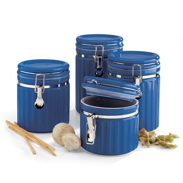 decorative canister sets kitchen canisters sets blue canister rh pinterest com