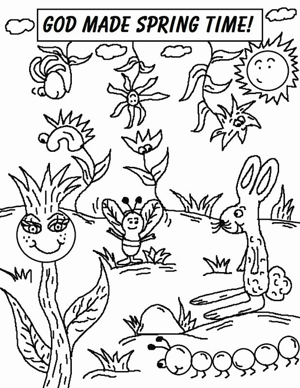 Spring Animals Coloring Pages New God Made The Animals Coloring