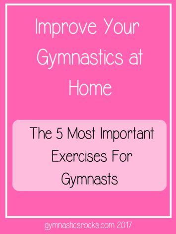 Hey Everyone, and thanks for visiting my site today! I hope you all are training hard and having fun! Today's post is about how you can improve your gymnastics at home. But these tips aren&#8…