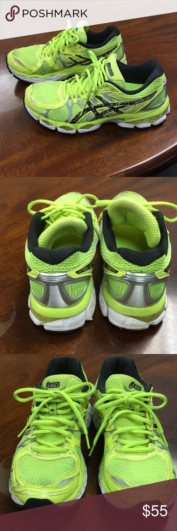 ASICS® GEL-NIMBUS 16 LITE-SHOW - WOMEN'S ASICS® GEL-NIMBUS 16 LITE-SHOW - WOMEN'S - Flash Yellow/Lightning/Black - size 8 - used sneakers but still in great condition a lot of life left Asics Shoes Sneakers