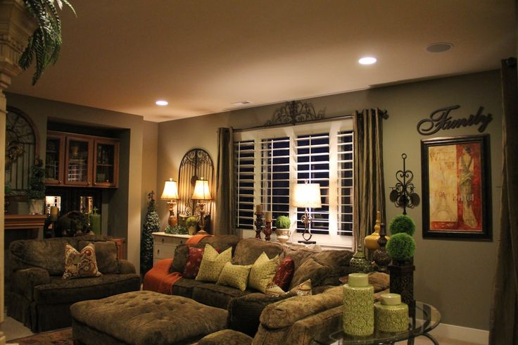 Tuscan Decorating Style Family Rooms