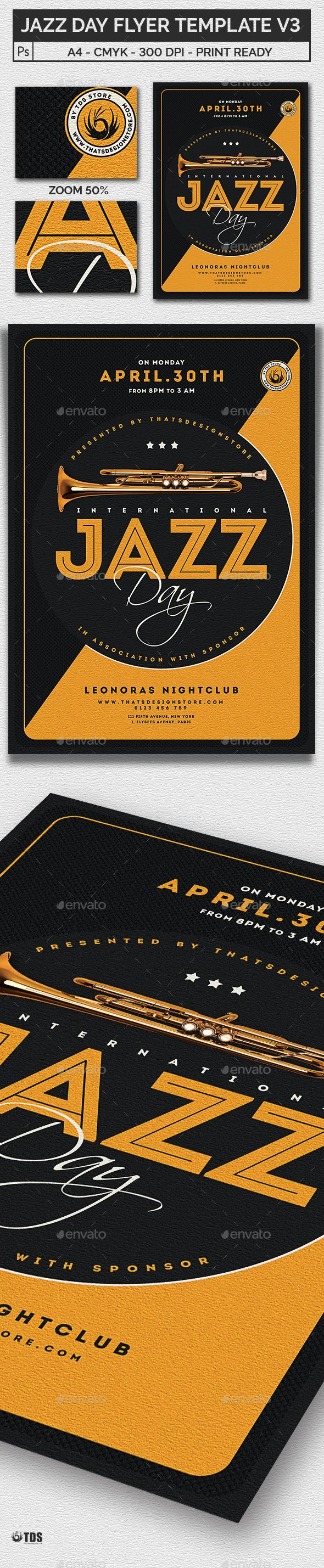 #Jazz Day #Flyer Template V3 - Concerts Events