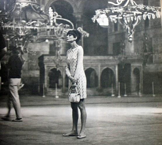 Audrey Hepburn in Hagia Sophia, Istanbul.