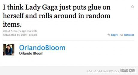 Tweetclash between Orlando Bloom and Lady Gaga