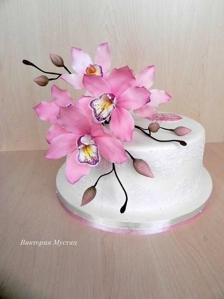 Orchid - Cake by Victoria - CakesDecor