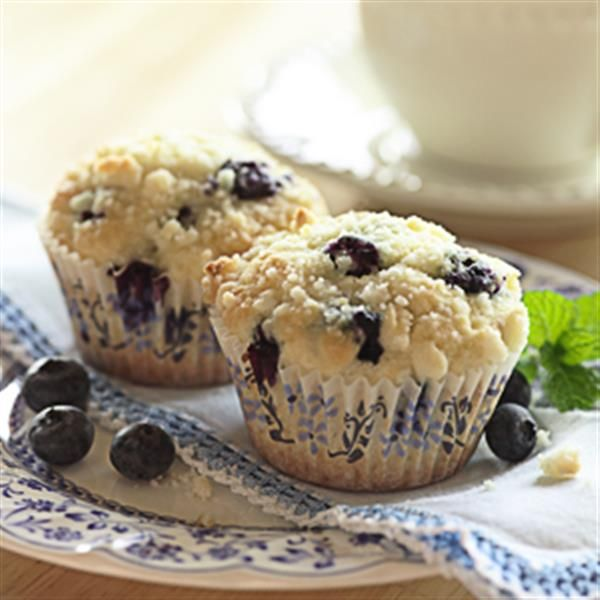 Blueberry Muffins with Streusel Topping from White Lily® are a perfectly sweet way to start your morning.