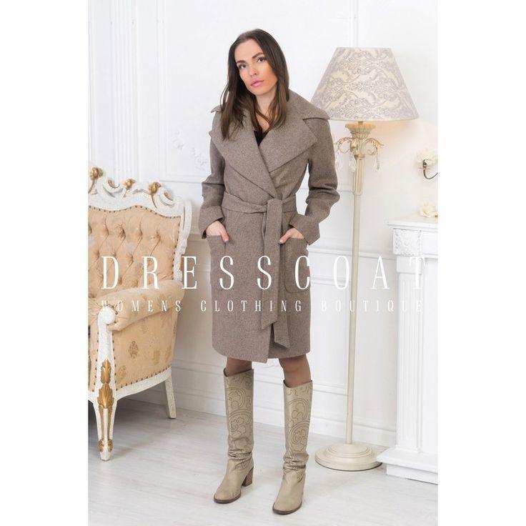 Пальто демисезонное женское Бриджит светло-бежевое купить в Москве и Спб