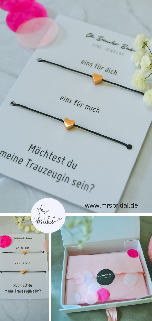 Oh Bracelet Berlin: Mit Liebe handgemacht fu00fcr die beste Trauzeugin der Welt…