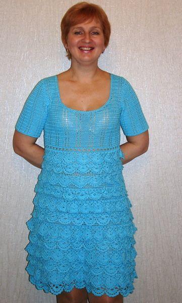 """Blue Wave"" from Crocheted booties, blanket, exclusive garments are handmade   LyudmilaHandmade by DaWanda.com"