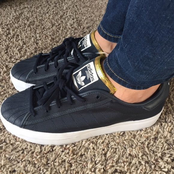 New ADIDAS Superstar Rize, navy blue color! With tag! So fashion Adidas  Shoes Sneakers