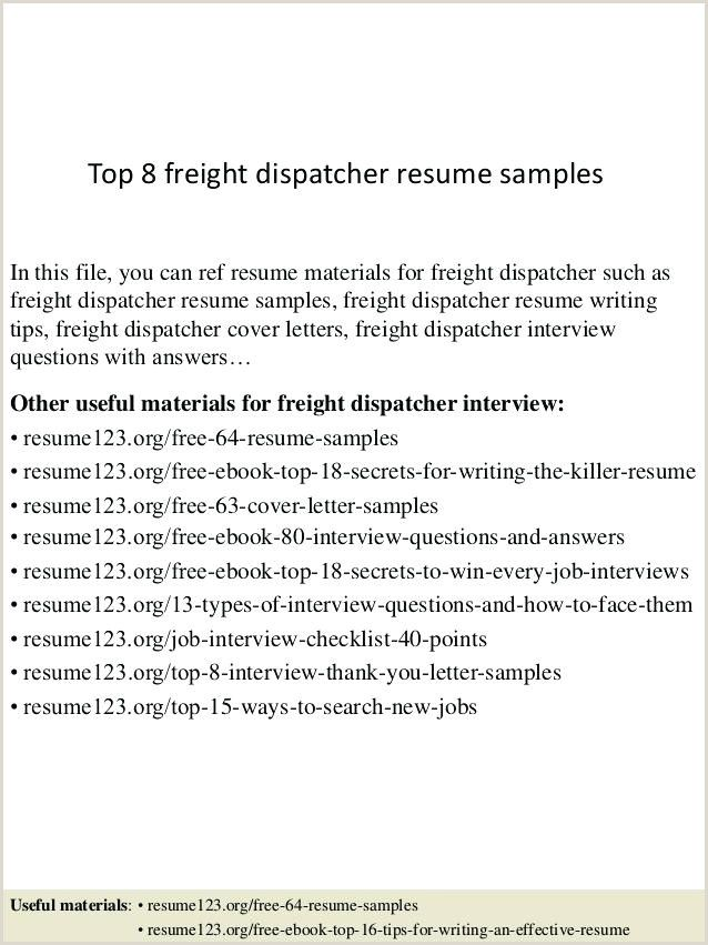 Truck Dispatcher Resume In 2020 Resume Examples Manager Resume Job Resume Samples