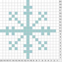 free fair isle snowflake chart - Google Search