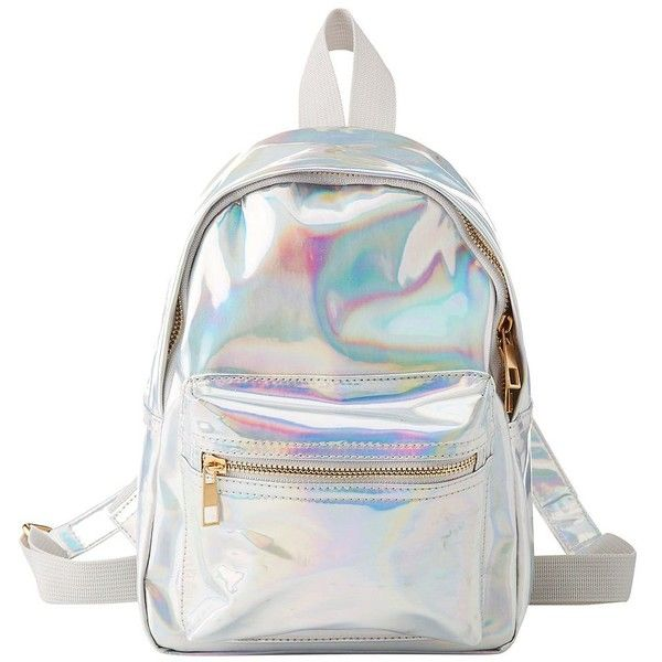 Charlotte Russe Holographic Mini Backpack ($20) ❤ liked on Polyvore featuring bags, backpacks, multi, mini zip bags, zipper bag, miniature backpack, holographic mini backpack and zip bag
