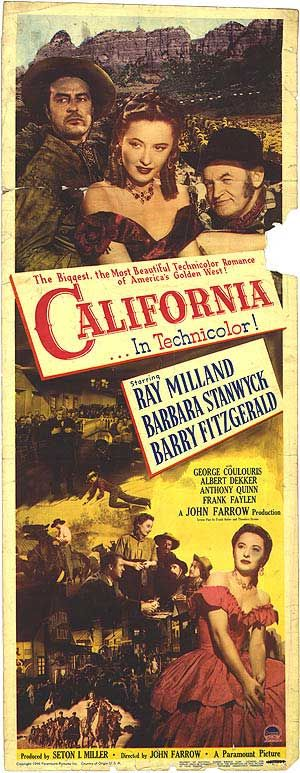 Ray Milland, Barbara Stanwyck - California, 1958