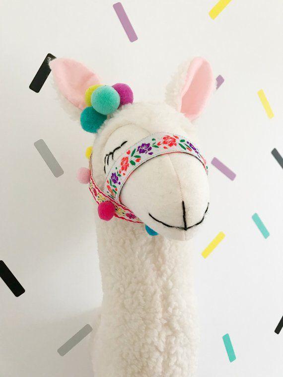 llama wanddekoration tierkopf etsy nursery decor baby room kid metall deko für die wand draußen