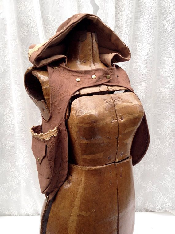 Brown holster hoodie - camel corduroy holster - pocket holster vest - desert festival pocket vest - shoulder holsters - Small