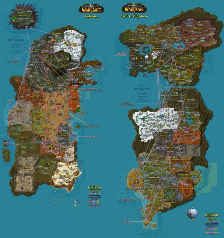 World of Warcraft Azeroth map