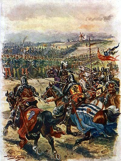 Battle of Creçy by Harry Payne