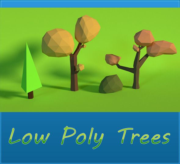 LowPoly Trees .Pack2