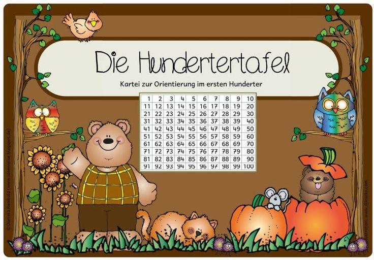 Übungen rund um das Hunderterfeld/die Hundertertafel Ziel dieser kleinen Kartei soll es sein, sich im Hunderterfeld/in der Hundertertafel ...