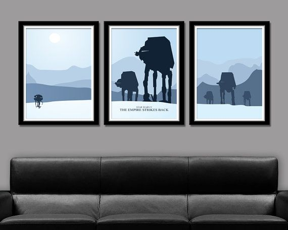 ":Star Wars: Empire Strikes Back"" minimalist movie poster set by BigTimePosters ($43 USD)"