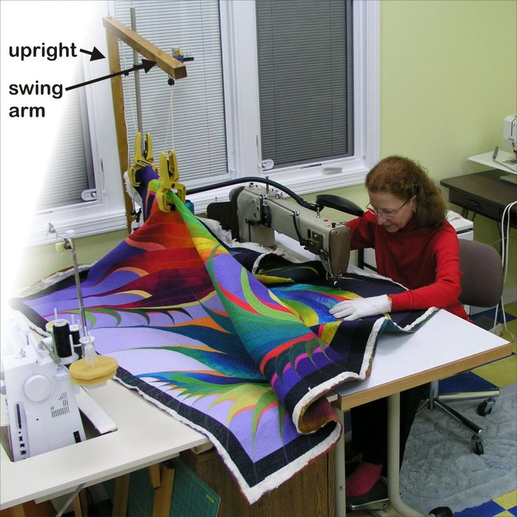 Use LIFT to get weight off table when quilting